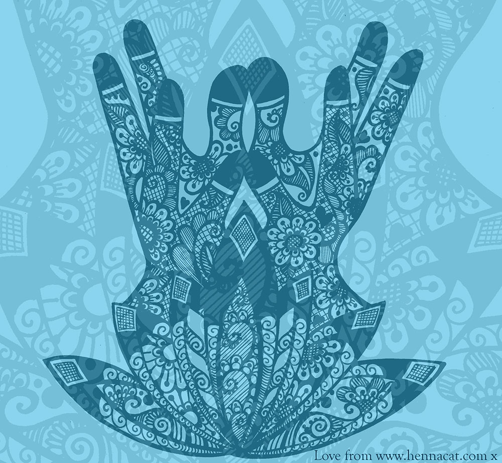 Lotus Mudra Henna from Hennacat